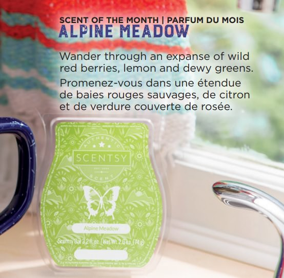 Alpine Meadow - August 2018 Scentsy Scent Of The Month