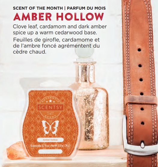 Amber Hollow - September 2018 Scentsy Scent Of The Month