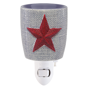 Burlap Star Mini Scentsy Warmer