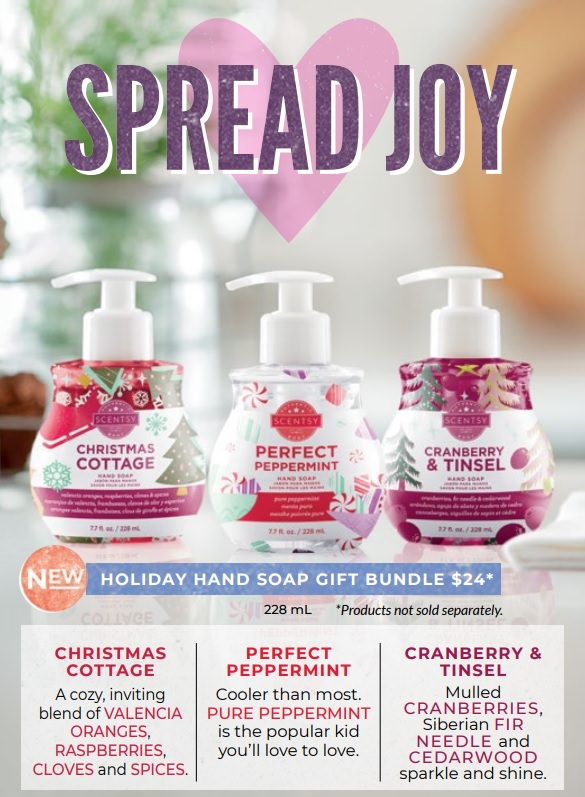 Scentsy Christmas Gifts.Scentsy Hand Soap Holiday Gift Bundle