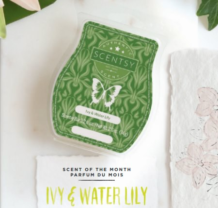 Ivy Water Lily - April 2017 Scentsy Scent Of The Month