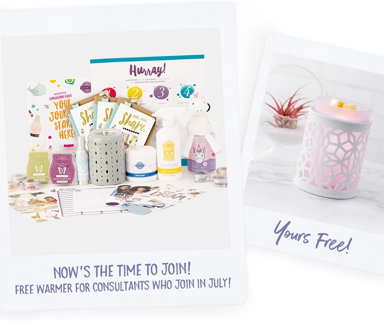 Join Scentsy in July - Get a Free Warmer