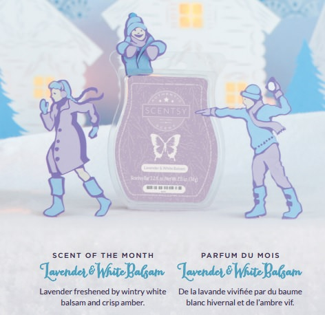 Lavender and White Balsam - November and December 2016 Scentsy Scent Of The Month