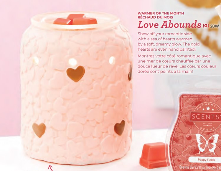 Scentsy Warmer Of The Month - February 2019 - Love Abounds