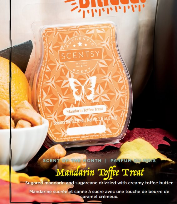 Mandarin Toffee Treat - September 2017 Scentsy Scent Of The Month