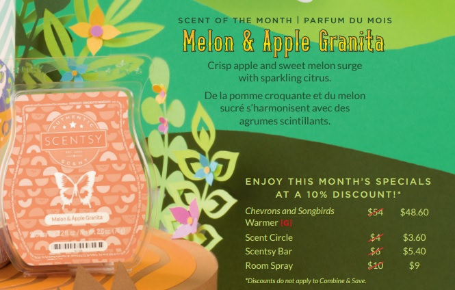 Melon and Apple Granita - February 2017 Scentsy Scent Of The Month