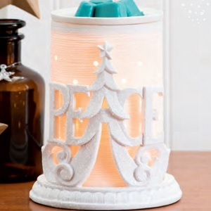 Peace Wrap With Etched Core Scentsy Holiday 2017 Warmer