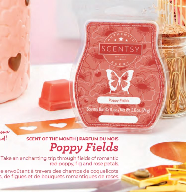 Poppy Fields - February 2019 Scentsy Scent Of The Month