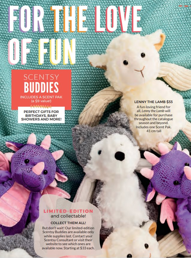 Limited Edition Scentsy Buddies