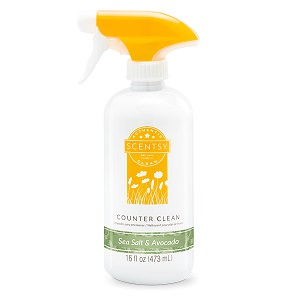 Sea Salt and Avocado Scentsy Counter Cleaner