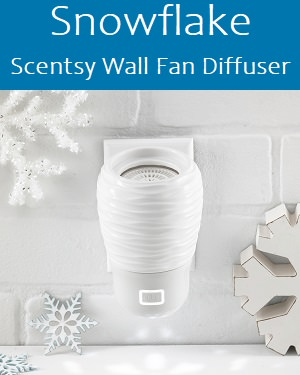 Snowflake Scentsy Wall Fan Diffuser