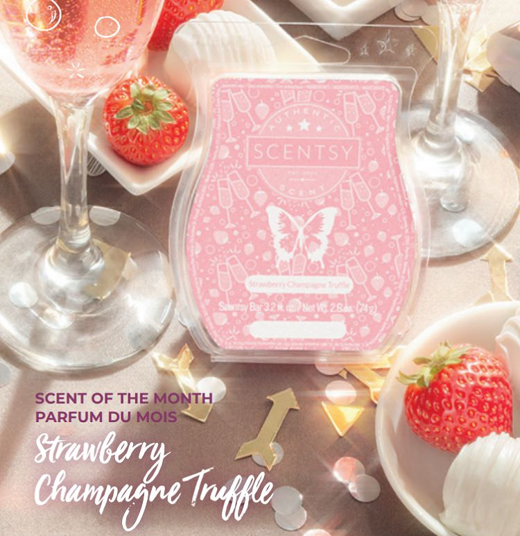 Strawberry Champagne Truffle - January 2019 Scentsy Scent Of The Month