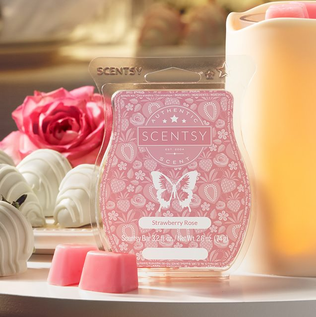 Strawberry Rose Scentsy Wax Bar