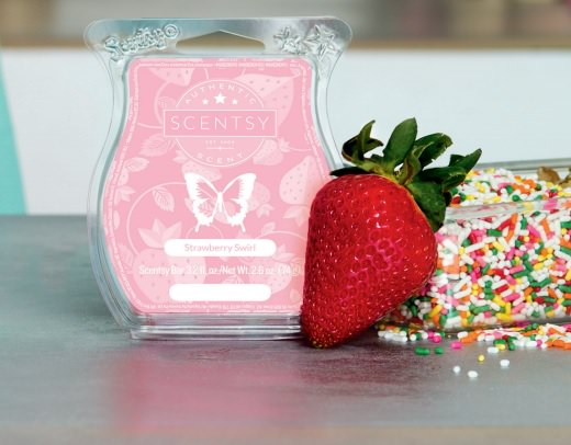 Strawberry Swirl Scentsy Bar