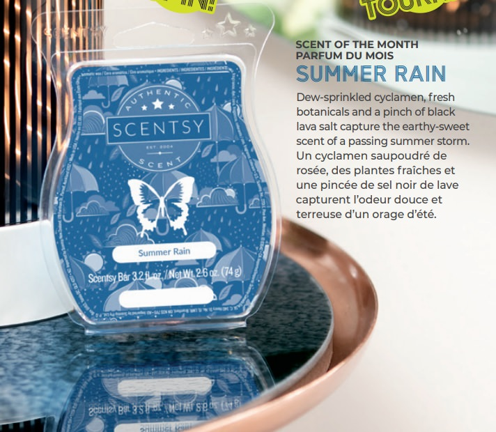 Summer Rain Scentsy Wax Bar