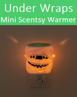 Under Wraps Scentsy Halloween Nightlight Warmer Lit